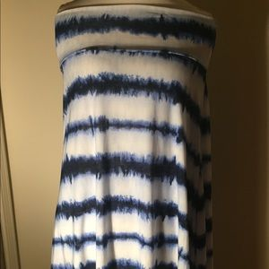 Lularoe Azure blue and white